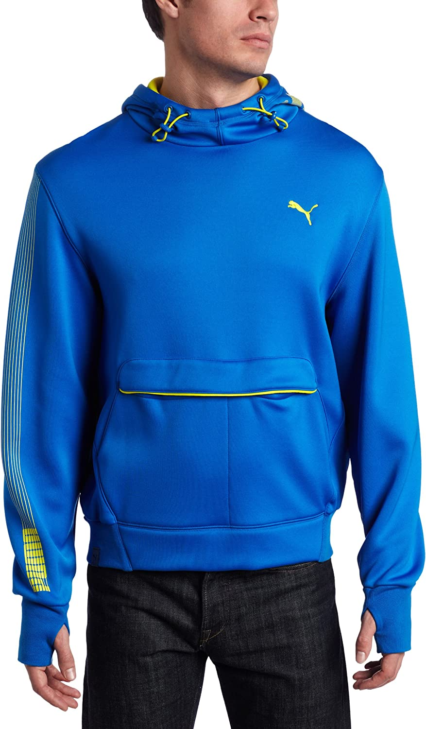 PUMA Men's Tech Graphic H Sweat Jacket, Royal, Large