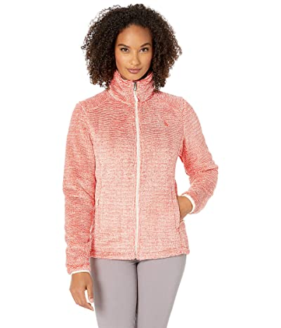 The North Face Osito 2 Jacket (Vintage White/Spiced Coral Stripe) Women