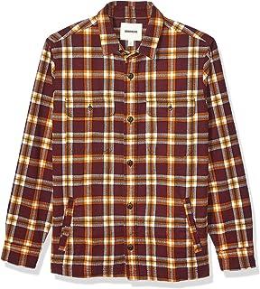 Marchio Amazon - Goodthreads, camicia/giacca da uomo, in flanella pesante