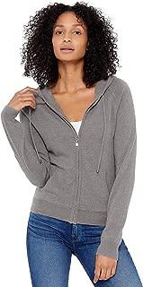 Women's Zip Up Hoodie Front Pocket 100% Pure Cashmere Long Sleeve Sweater Full Zipper