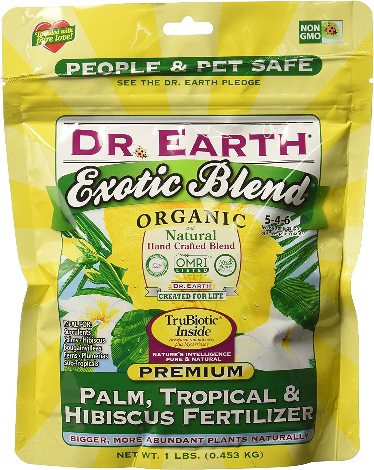 Dr. Earth Sale special price 749688750646 75064 1 lb Palm 5-4-6 Exotic Max 78% OFF Blend MINIS