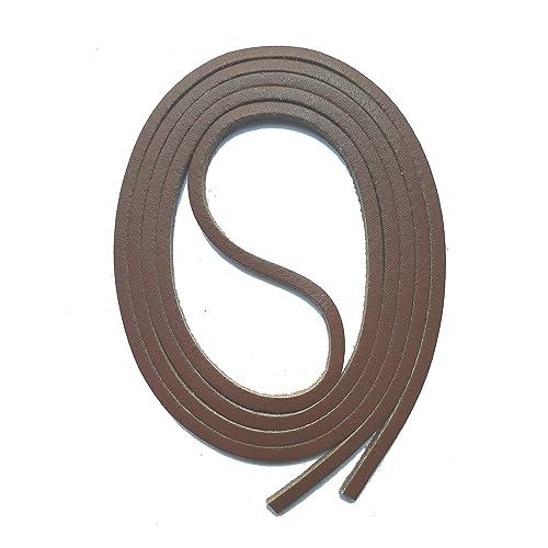Neuf 5m Cordon cuir rond 3mm couleur marron