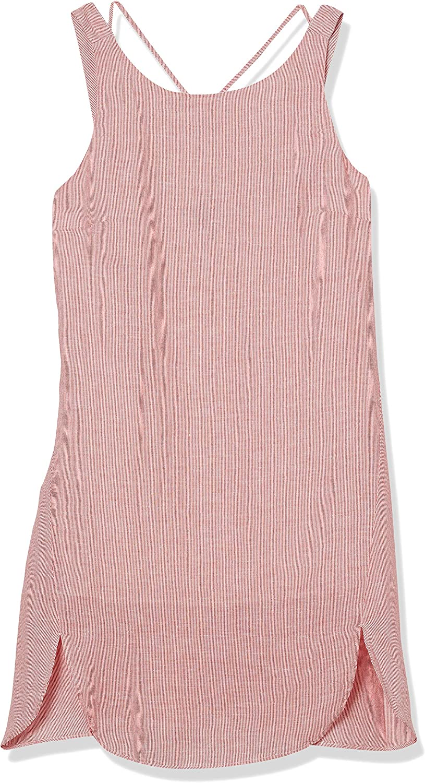 AX Armani Exchange Women's Sleeveless Linen Yarn Dyed Strip Dress