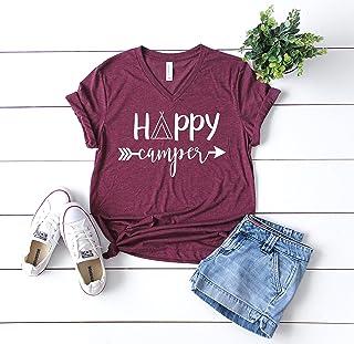 camping shirt camping tshirt happy camper shirt funny camping shirt happy camper tee camping tee womens camping shirt