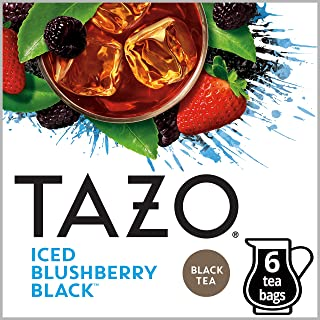 Tazo Filter Bag Tea, Iced Blushberry Black, 6 ct, Pack of 4 (Packaging may vary)