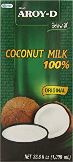 AROY-D 100% Coconut Milk – 33.8 oz packages (3-pack)
