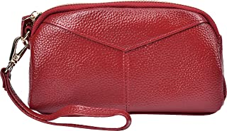 Yeeasy Women's Leather Wallet Clutch Handbag Ladies Zip Coin Purse with Wristlet