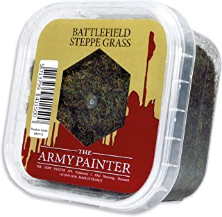 The Army Painter Battlefield Essential Series: Battlefield Steppe Grass for Miniature Bases and Wargame Terrains - Static Grass for Bases of Miniature Toys, 150 ml