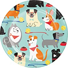 Creative Converting Dog Party Dessert Plates, 8 Count