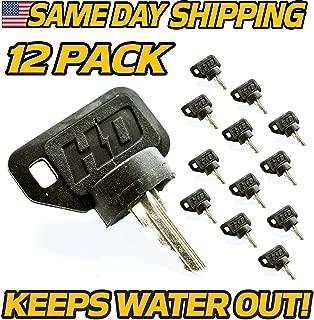 (Dealer Pack 12 Pack) EZGO Golf Cart Umbrella Key for 33639G01, 17421G1, 31568G1 Ignition Switch Keys, HD Switch, EZ-GO