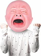 BigMouth Inc Gigantic Crying Baby Mask, Cry Baby Face Mask, Funny Party or Halloween Mask