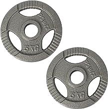 POWRX Olympische halterschijven 2,5-40 kg | Set van 2 schijven | Ideaal voor halters en barbells met diameter 50 mm
