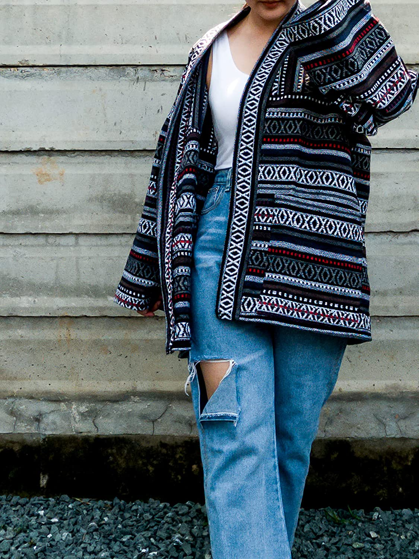 Cheap SALE Start Spring new work Boho Black Jacket Japanese Kimono Cardigan Cotton Hippie Robes