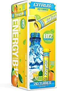 Zipfizz Healthy Energy Drink Mix, Hydration with B12 and Multi Vitamins, Citrus, 20 Count