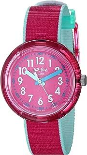 Flik Flak Kids' Quartz Nylon Strap, Pink, 14 Casual Watch (Model: ZFPNP047)