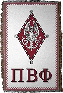VictoryStore Blanket - Pi Beta Phi Woven Blanket, Crest and Letters Design