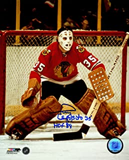 Tony Esposito Signed Chicago Blackhawks Goalie 8x10 Photo w/HOF'88