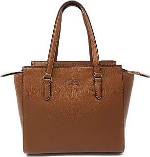 Kate Spade New Nork Medium Jackson Leather Satchel Purse - Gingerbread Brown