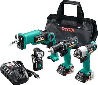 リョービ(RYOBI) コンボキット BCK-1100 充電式インパクトドライバー・ドライバードリル・小型レシプロソー・LEDライト・電池パック 10.8V 688809A