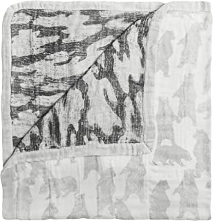 aden + anais Foragers Bear Silky Soft Dream Blanket, Multi