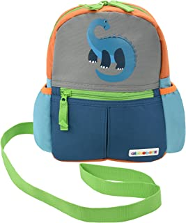 Alphabetz Dino Toddler Backpack with Safety Harness Leash, Blue, Green, Gray, Universal Size, for Boy