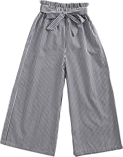 Sanlutoz Fashion Stripe Girl Pants Children Cotton Pant Casual Clothes Bundle Soft