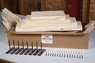 DAKODA LOVE Floating Shelves Solid Wood 24