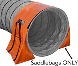 Rise8 Agility Tunnel Bag Holder - Non-Constricting Saddlebags for Stabilizing Dog Agility Tunnel Equipment Indoor or Outdoor, Orange Color
