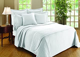 Royal Heritage Home Williamsburg William and Mary Matelasse King Bedspread, White