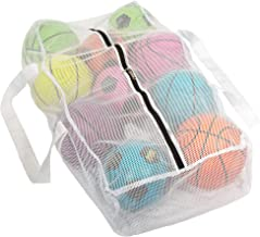 Extra Large Ball Sports Bag - Double Zipper, Two Straps for Wearing on Back or Carrying - Gym Bag Fits up to 10 Full Size ...