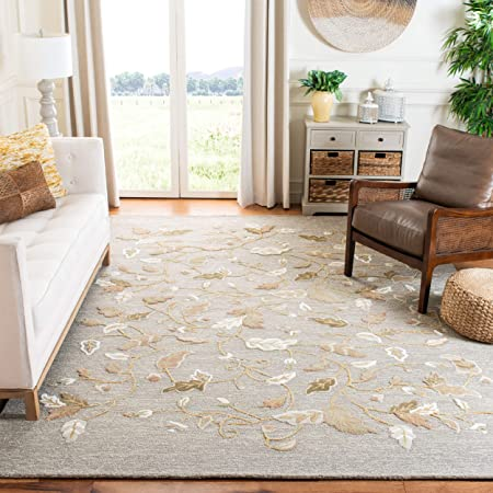 Safavieh Martha Stewart Collection Msr3611d Handmade Autumn Woods Wool Viscose Area Rug 5 X 8 Gray Squirrel Furniture Decor