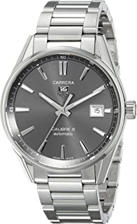 TAG Heuer Men's WAR211C.BA0782 Carrera Analog Display Swiss Automatic Silver Watch
