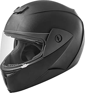 Gliders. Fusion Full Face ABS Shell Helmet (Black with Tinted Visor, 580 mm)