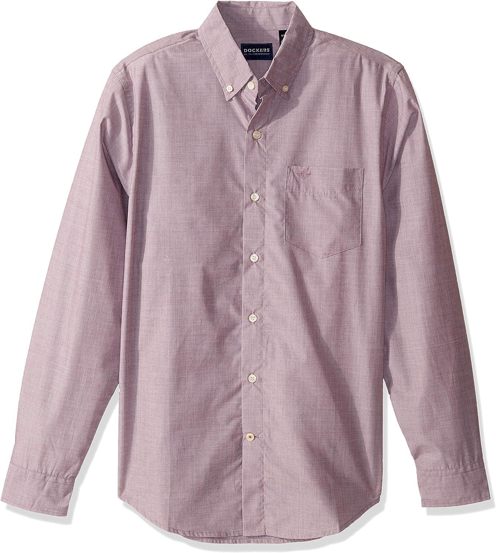 Dockers Men's Long-sleeve Button-Up Perfect Shirt