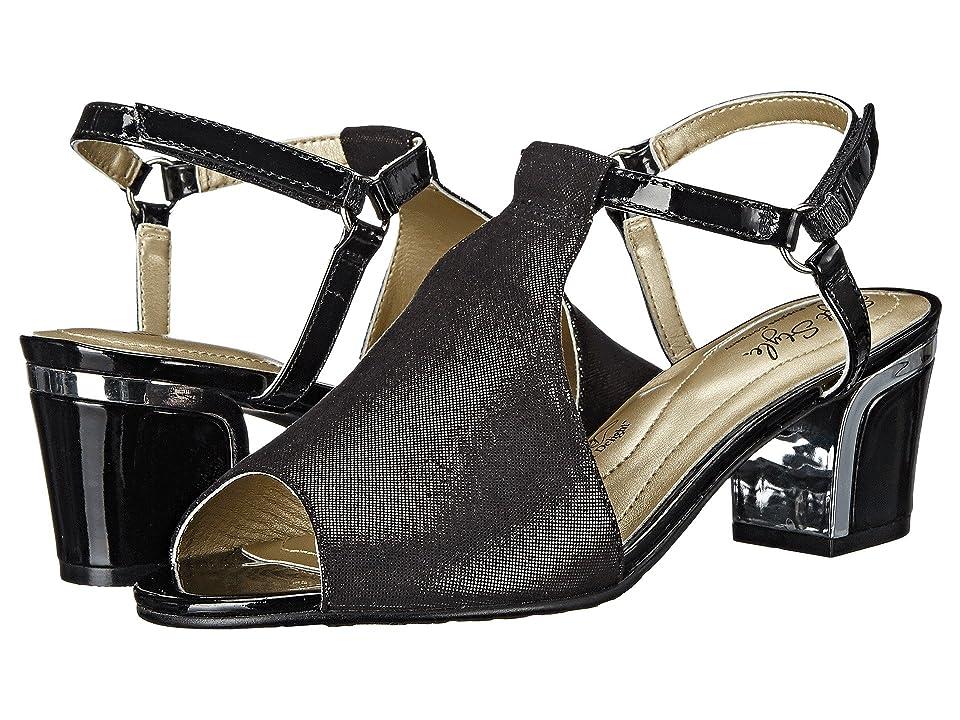 Soft Style Dalyne (Black Sparkle Shine/Silver Heel) Women