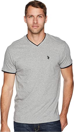 Double Ringer V-Neck T-Shirt