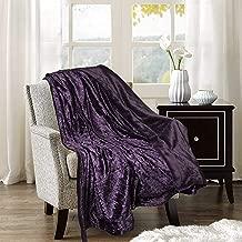 Adorn & Décor Crushed Velvet Reversible Plush Throw Blanket, Shiny Flannel