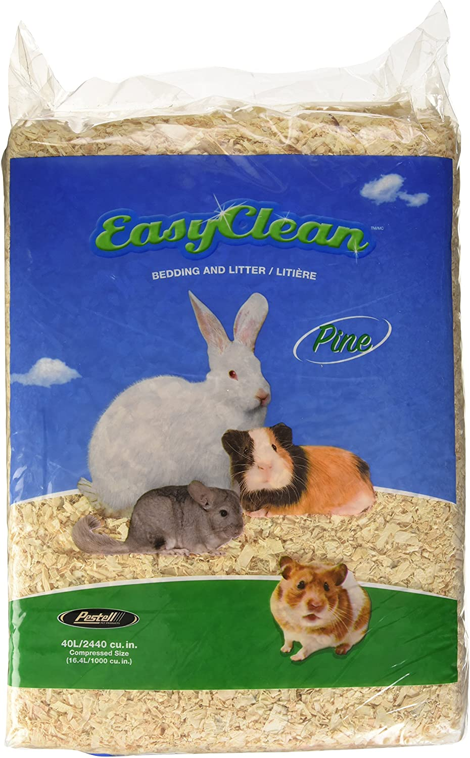 Buy Pestell Pet Products Easy Clean Pine Bedding, 20 Liter Online ...