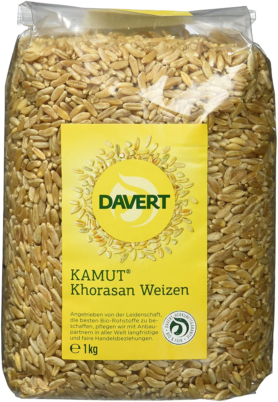 Davert Bio KAMUT Khorasan Weizen 1kg (1 x 1 kg) : Amazon.de: Lebensmittel &  Getränke