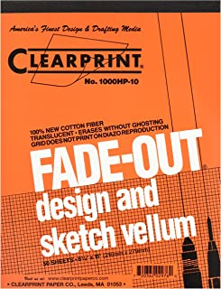 Clearprint Fade-Out Design and Sketch Vellum - Grid 8.5