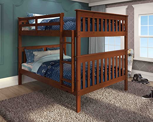 B0055TFR5O✅DONCO KIDS Mission Bunkbed with Slat-Kits – Full Over Full