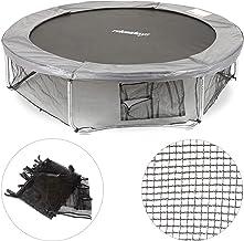 Relaxdays Unisex jeugd, zwart frame net voor tuintrampoline, met 3 opbergvakken, bodemveiligheidsnet voor trampoline Ø 183...