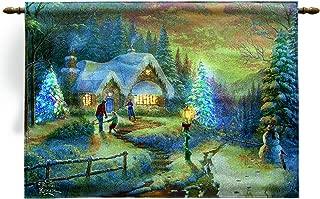 Manual Woodworkers Country Christmas Homecoming Kinkade 36 X 26 Fiberoptic Wall Hanging 36X26