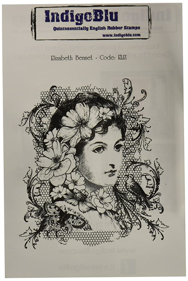 IndigoBlu Cling Mounted Stamp, 7 by 4.75-Inch, Elizabeth Bennet