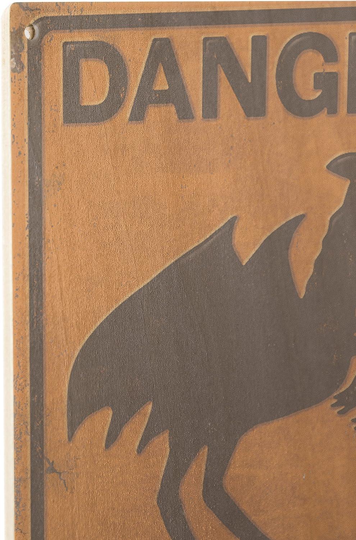 10x15 Wood Wall Sign, Wall Decor Ready to Hang Lantern Press Jersey Devil