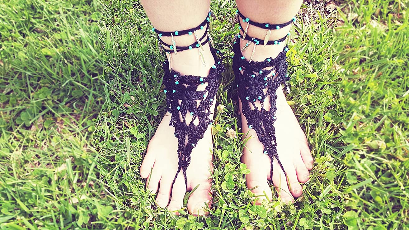 Petunia Barefoot Sandals | Boho | Barefoot | Beach | Ankle Bracelet