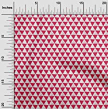 oneOone Cotton Poplin Fabric Geometric Block Printed Fabric 1 Meter 42 Inch Wide