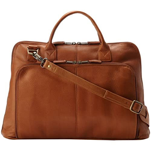 8ddd8b61ac Latico Leathers Heritage Collection Slim Top-Zip Briefcase