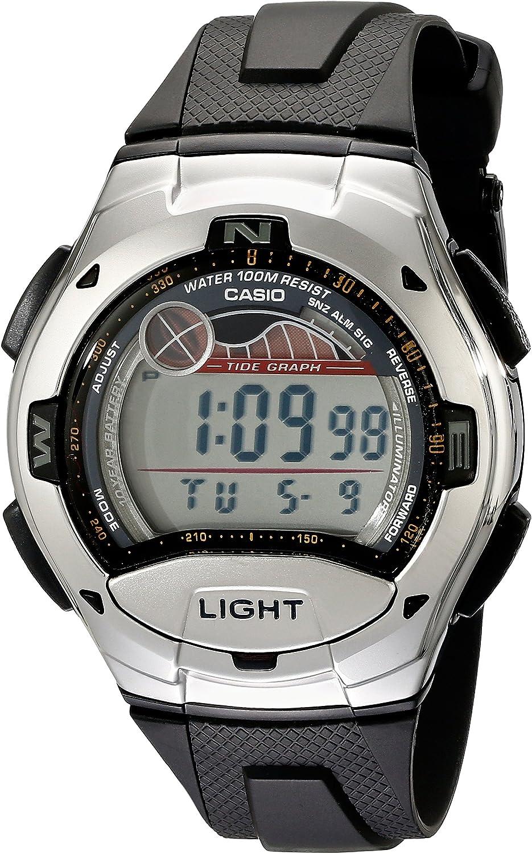 Casio W753-1AV - Reloj de Cuarzo para Hombre, con Correa de Resina, Color Negro