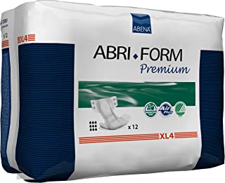 Abena Abri-Form Premium Incontinence Briefs, Extra Large, XL4, 48 Count (4 Packs of 12)